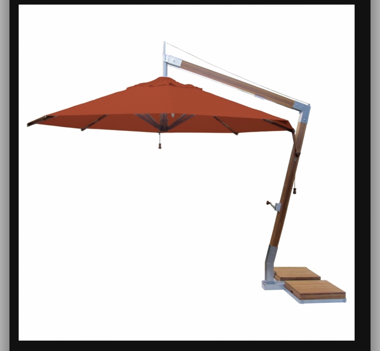GU-101 GARDEN WOODEN UMBRELLA
