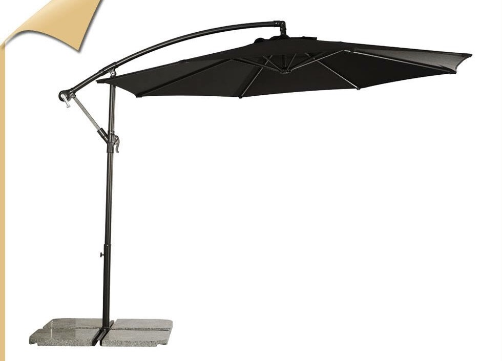 GU-05 GARDEN UMBRELLA BLACK