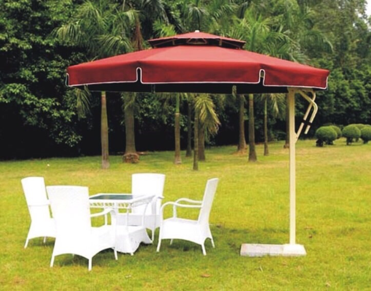 GU-18 GARDEN UMBRELLA ROUND RED COLOR