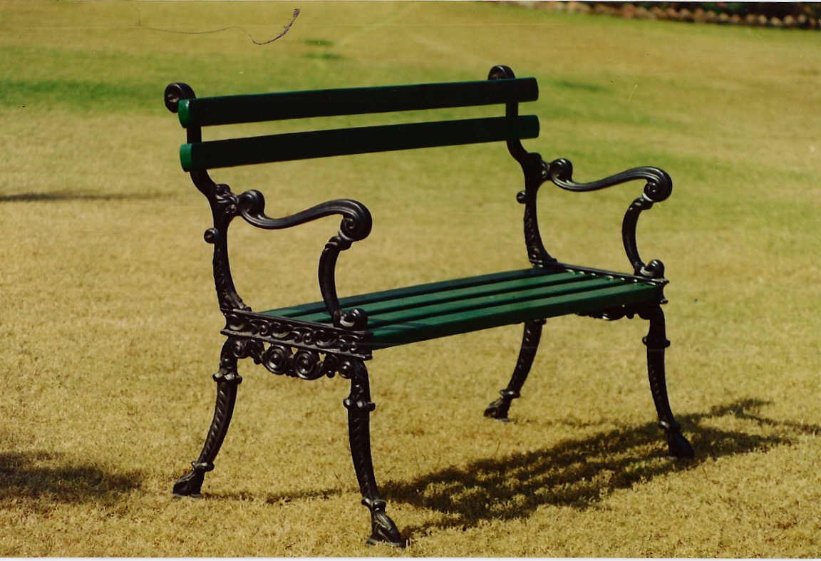 CIB-52 CAST IRON PARK BENCH