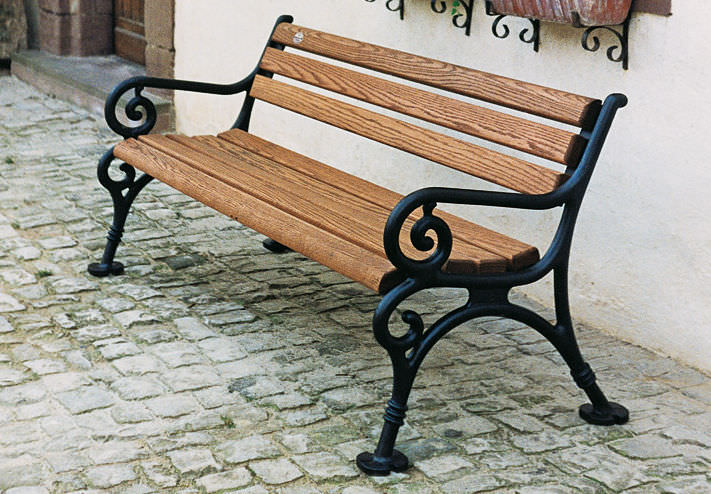 CIB-12 CAST IRON PARK BENCH