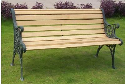 CIB-07 CAST IRON PARK BENCH