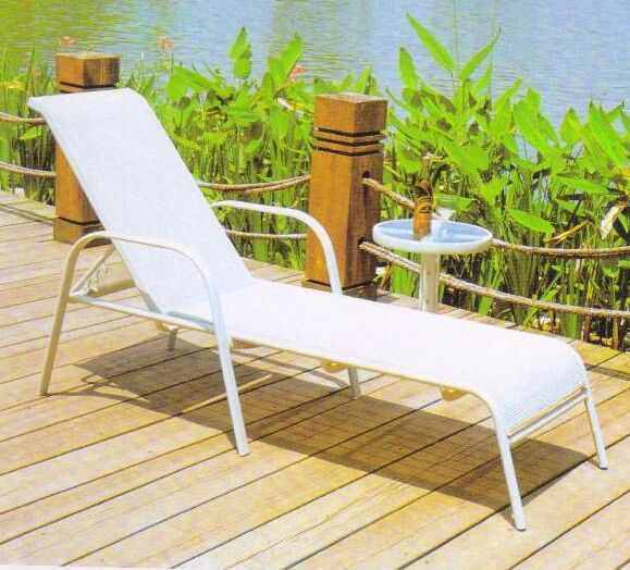 AL-05 WHITE LOUNGER ALUM