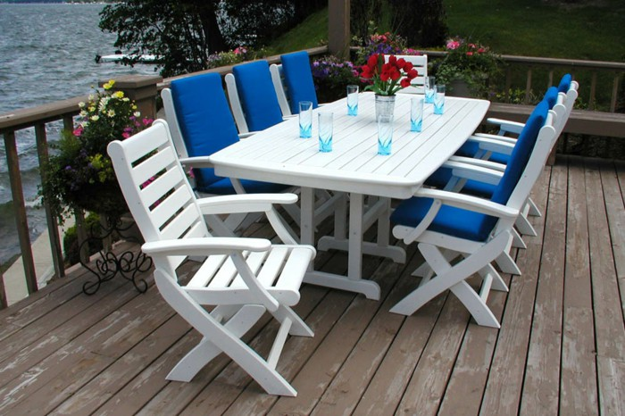 wc-07 white - Wooden Outdoor Furniture