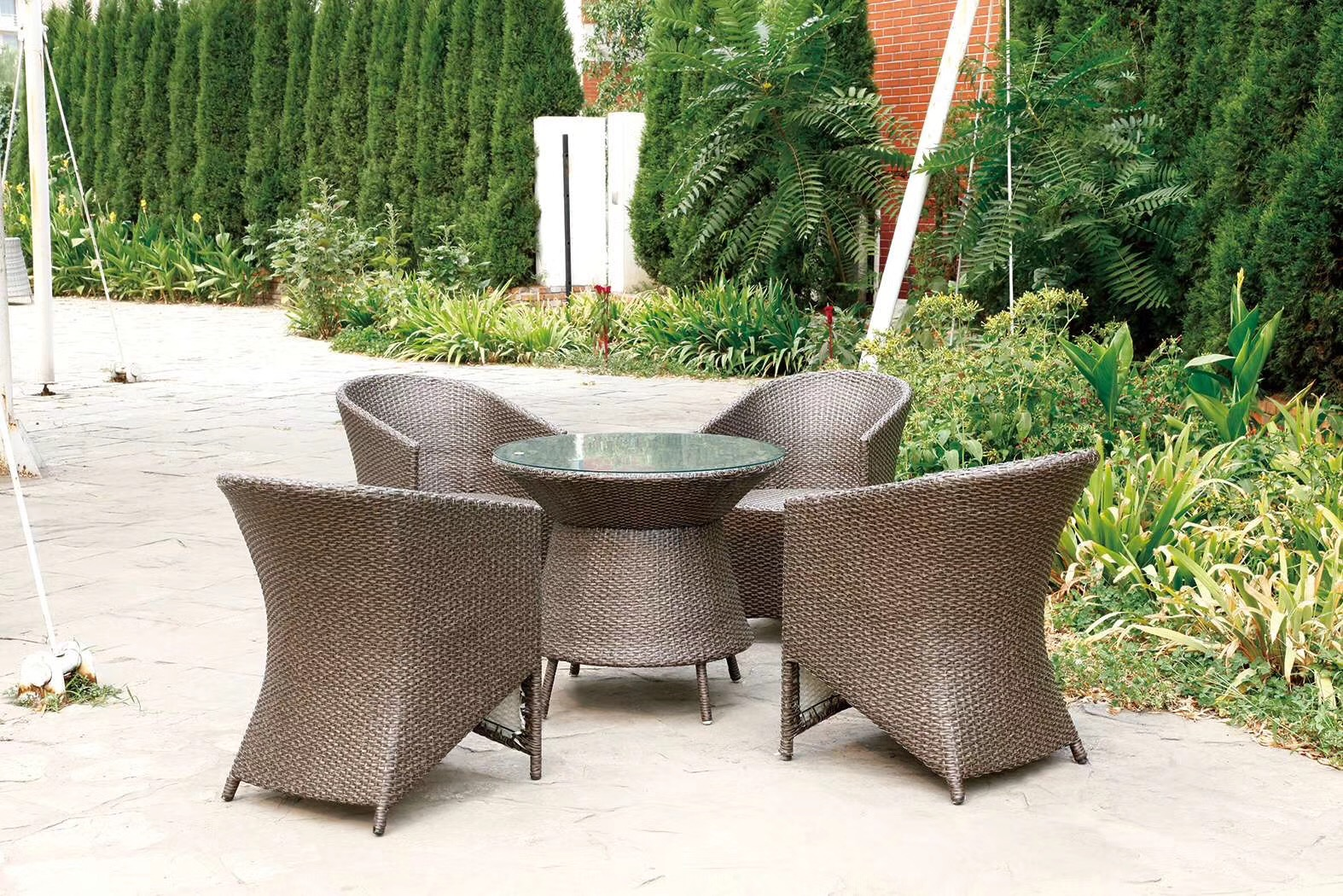 D-15 DRAK GRAY( 4+1 SET) 32 INCH TABLE ROUND